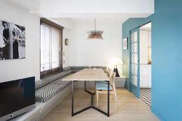 Espace Salle à manger: Salle à manger de style de style Moderne par MELANIE LALLEMAND ARCHITECTURES