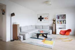Espace Salon: Salon de style de style Moderne par MELANIE LALLEMAND ARCHITECTURES