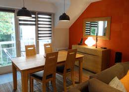 UN REFUGE URBAIN À NANTES: Salle à manger de style de style Moderne par UN AMOUR DE MAISON