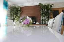 Comedores de estilo moderno por Andreia Louraço - Designer de Interiores (Contacto: atelier.andreialouraco@gmail.com)