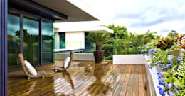 Terrazas de estilo  por AIDA TRACONIS ARQUITECTOS EN MERIDA YUCATAN MEXICO
