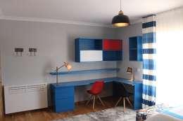 modern Nursery/kid's room by Andreia Louraço - Designer de Interiores (Contacto: atelier.andreialouraco@gmail.com)