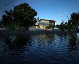Casas de estilo moderno por Gliptica Design