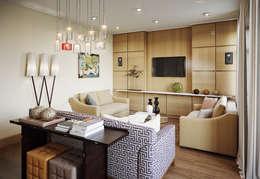 Квартира в ЖК Dominion: Гостиная в . Автор – MARION STUDIO