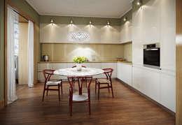 Квартира в ЖК Dominion: Кухни в . Автор – MARION STUDIO