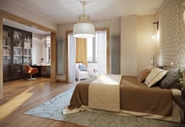 Квартира в ЖК Dominion: Спальни в . Автор – MARION STUDIO