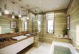 Квартира в ЖК Dominion: Ванные комнаты в . Автор – MARION STUDIO
