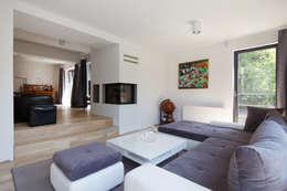 minimalistische Woonkamer door Zalewski Architecture Group