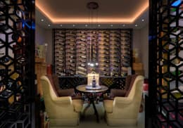 eclectic Wine cellar by Viterbo Interior design