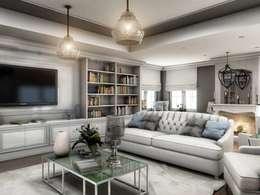 VERO CONCEPT MİMARLIK – Yunus Emre  Villa - İsveç: modern tarz Oturma Odası