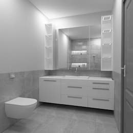 Boer As. – Mesa Evleri: modern tarz Banyo