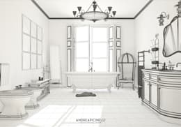 minimalistic Bathroom by Andrea Picinelli