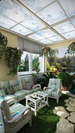 Проект 023: кухня + столовая + зимний сад: Зимние сады в . Автор – студия визуализации и дизайна интерьера '3dm2'