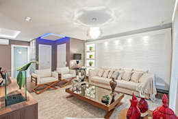 Salas / recibidores de estilo moderno por Patrícia Azoni Arquitetura + Arte & Design