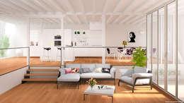 غرفة المعيشة تنفيذ Jonathan Sabbadini