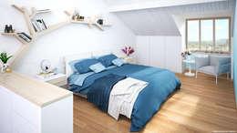 غرفة نوم تنفيذ Jonathan Sabbadini