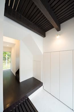 緑洞の家 玄関: フォーレストデザイン一級建築士事務所が手掛けたです。