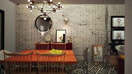 Casa EGR: Comedor de estilo  por Rotoarquitectura