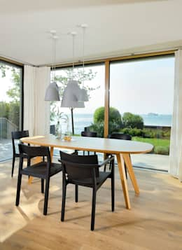 modern Dining room by Bau-Fritz GmbH & Co. KG