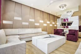 GOMBER RESIDENCE : modern Living room by Total Interiors Solutions Pvt. ltd.