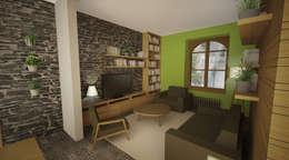 Aménagement intérieur d'une maison de ville à Angers (49): Salon de style de style Moderne par ATELIER POTENTIEL