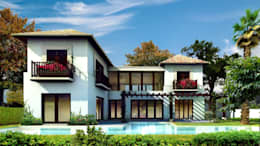 Casas de estilo rústico por Boué Arquitectos