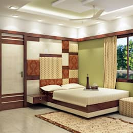 Master Bedroom Design (BED VIEW) :   by Creazione Interiors