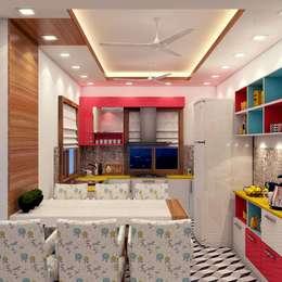 Dining & Kitchen View:   by Creazione Interiors