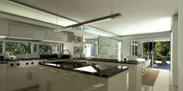 Vivienda en Grand Bell: Cocinas de estilo moderno por AMADO arquitectos