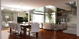 Vivienda en Grand Bell: Comedores de estilo moderno por AMADO arquitectos