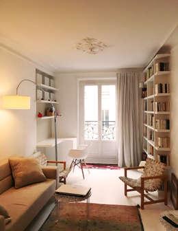 Projekty,  Salon zaprojektowane przez Agence KP