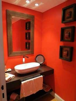 Toilette: Baños de estilo ecléctico por MS ESTUDIO DE ARQUITECTURA
