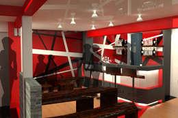 LS HOTEL: Cave à vin de style de style Moderne par timothée tibi AID