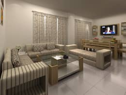Interiors: asian Living room by S.R. Buildtech – The Gharexperts