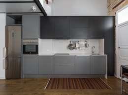 modern Kitchen by ambau taller d´arquitectes