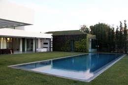 guedes cruz arquitectos:  tarz Bahçe havuzu