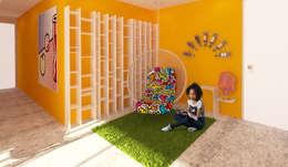 Apartamento POP Manzanares: Salas / recibidores de estilo moderno por OPFA Diseños y Arquitectura