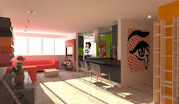 Apartamento POP Manzanares: Cocinas de estilo moderno por OPFA Diseños y Arquitectura