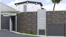 Propuesta para Fachada: Casas de estilo moderno por Gabriela Afonso