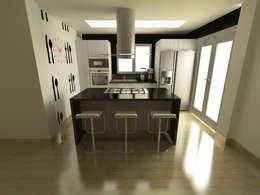 Cocina Quinta Chabella: Cocinas de estilo minimalista por OPFA Diseños y Arquitectura