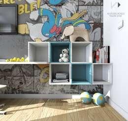 Architekt wnętrz Klaudia Pniak: modern tarz Çocuk Odası