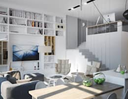 minimalistische Woonkamer door ONE STUDIO