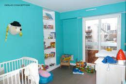 Chambre du petit garçon: Locaux commerciaux & Magasins de style  par Desjoconception