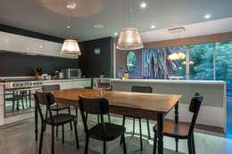 Departamento en La Condesa: Comedores de estilo ecléctico por MAAD arquitectura y diseño
