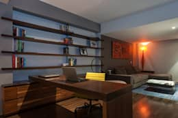eclectic Study/office by MAAD arquitectura y diseño
