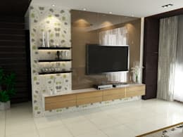 Singh Residence: modern Living room by Space Interface