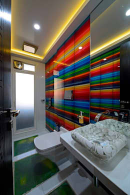 RESIDENTIAL PENTHOUSE INTERIORS: modern Bathroom by AIS Designs