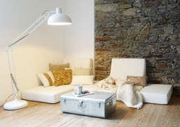 SALON: Salon de style de style Scandinave par MAYA Architecture & Design