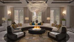 modern Living room تنفيذ Mert Duyal - NuN Design