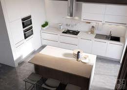 Киевский лофт Шеф-повара: Кухни в . Автор – DEnew
